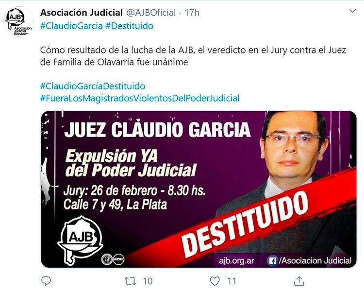 juez destituído